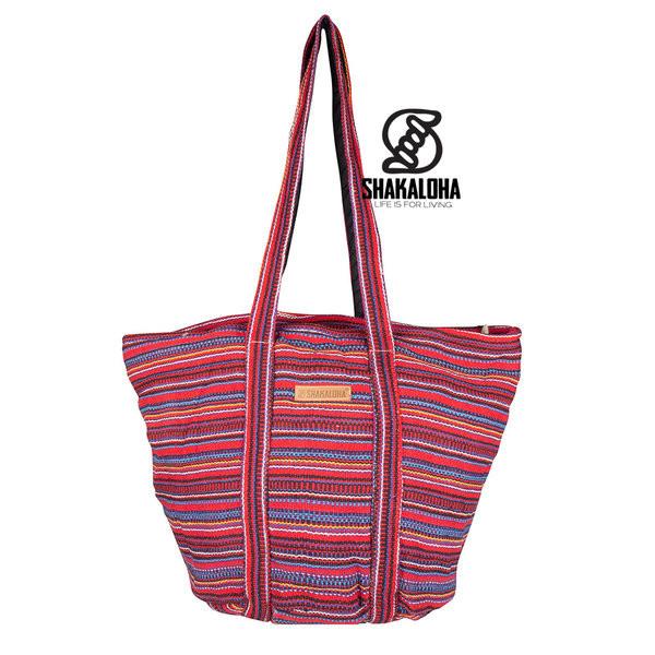 Shakaloha Heach Bag Red Striped