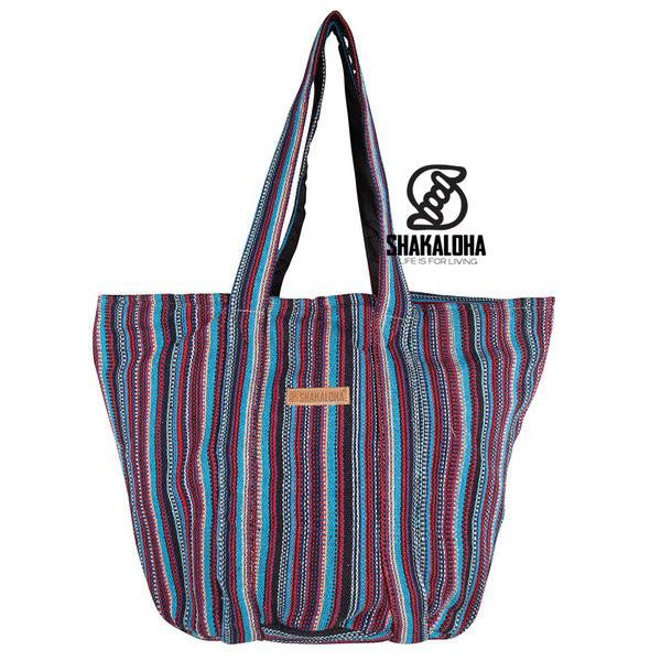 Shakaloha Heach Bag Blue-Red Striped