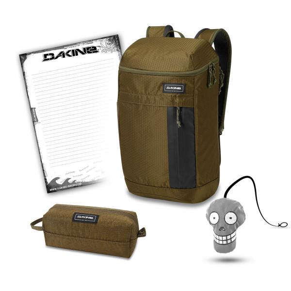 Dakine Concourse 25L + Accessory Case + Harry + Block Schoolset Dark Olive Dobby